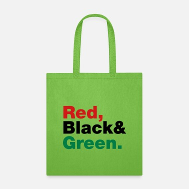 Red Black And Green Red, Black & Green. - Tote Bag