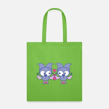 Sharp Sweet bats falling in love while creating hearts - Tote Bag