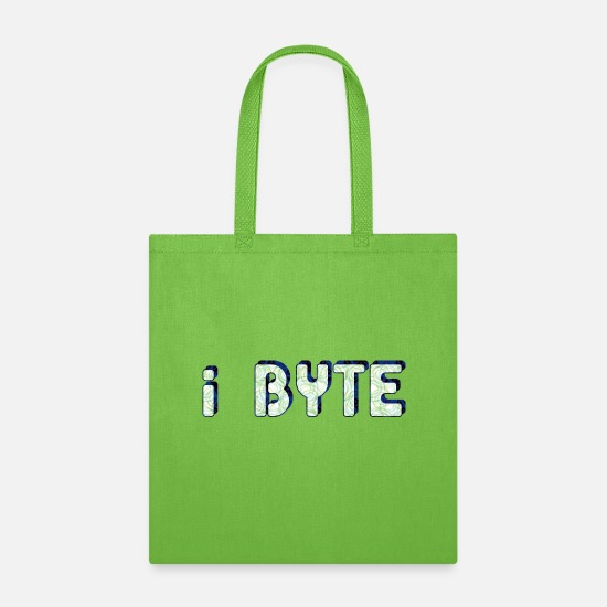Tech Bags & Backpacks - I Byte Patterned - Tote Bag lime green