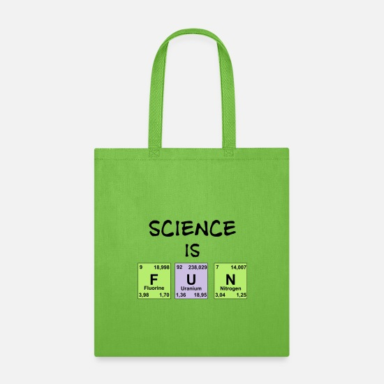 Mathematic Bags & Backpacks - Science Is Fun - Tote Bag lime green