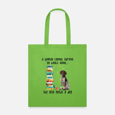 German BOOK AND GERMAN SHORTHAIRED POINTER - Tote Bag