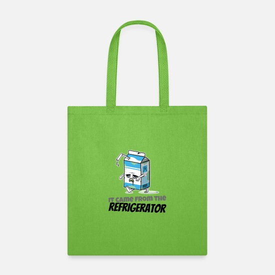 With Bags & Backpacks - It Came From the Refrigerator - Tote Bag lime green