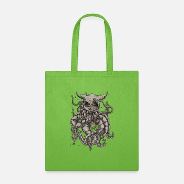 For Octopus Lovers Dead Octopus Skull and anchor Kraken Tentacle Gift - Tote Bag
