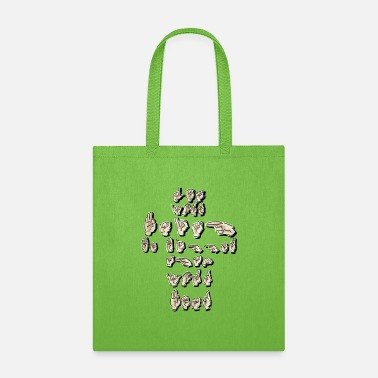 Quote ASL Quote Let your faith be bigger than your - Tote Bag
