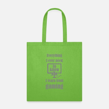 Motto Games Are My School - Tote Bag
