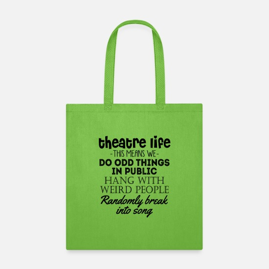 Occupation Bags & Backpacks - Theatre Life -This Means We- Do Odd Things In Publ - Tote Bag lime green