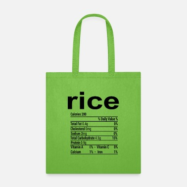 Rice Funny Thanksgiving Christmas T-Shirt - Tote Bag