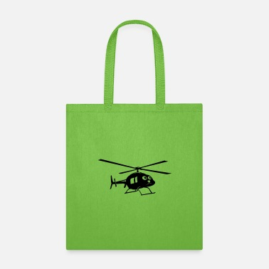 Cute Helicopter Helicopter with face - Tote Bag