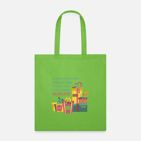 Return Bags & Backpacks - Return Mondays - Tote Bag lime green