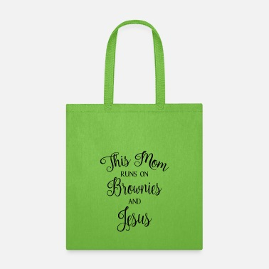 Idea MOM BROWNIES JESUS CHRISTIAN MOTHER CHURCH BIBLE - Tote Bag