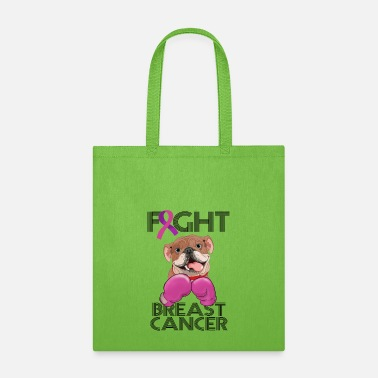 Fight Breast Cancer Fight Breast Cancer Bulldog Breast Cancer Month - Tote Bag
