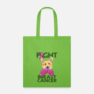 Fight Breast Cancer Fight Breast Cancer Corgi Breast Cancer Month - Tote Bag