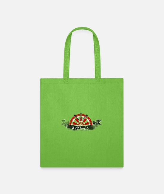 Arrow Bags & Backpacks - 9 Darter Neun Pfeile bis zum Sieg Dart Shirt 2019 - Tote Bag lime green