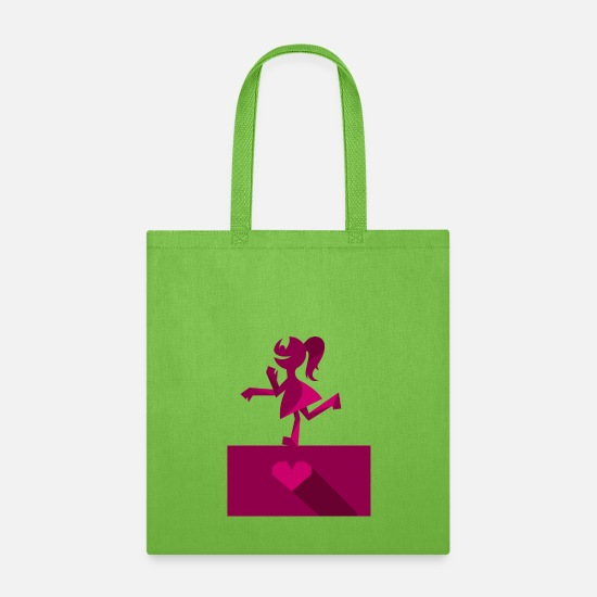 Boyband Bags & Backpacks - Boy and Girl - Her funny Valentines Day - Tote Bag lime green