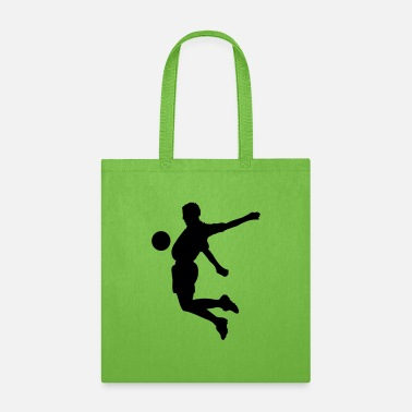 Soccer Ball Soccer player in action jumping - Tote Bag