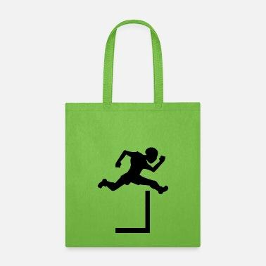 Track and Field Hurdles Tote Bag