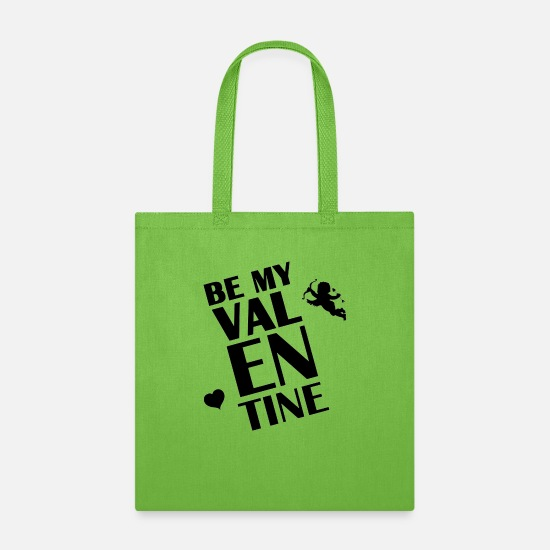 Love Bags & Backpacks - Cupido Be my Valentine Heart Love giftidea arrow - Tote Bag lime green