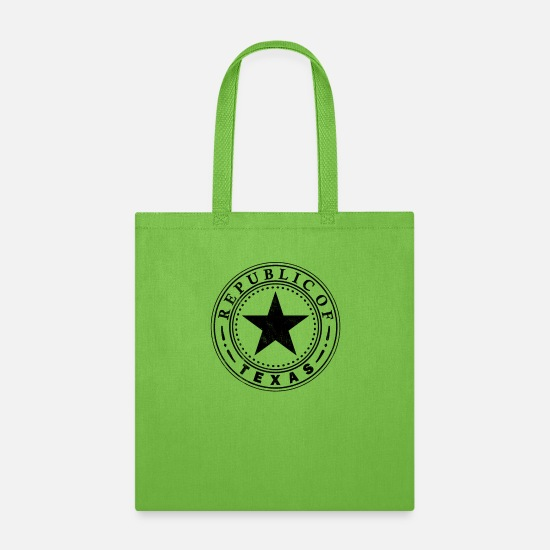 Star Bags & Backpacks - Texas Republic design by Republic of Texas - Tote Bag lime green