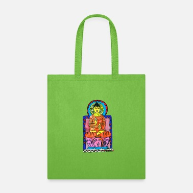 Swinging Symbol Buddha's enlightenment painting - Tote Bag