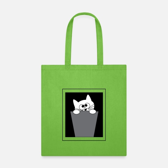 Gift Idea Bags & Backpacks - Bucket Cat - Tote Bag lime green
