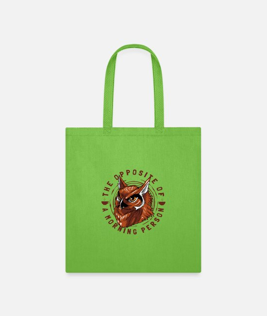 Sex Junkie Bags & Backpacks - Grumpy in the morning person night owl coffee - Tote Bag lime green