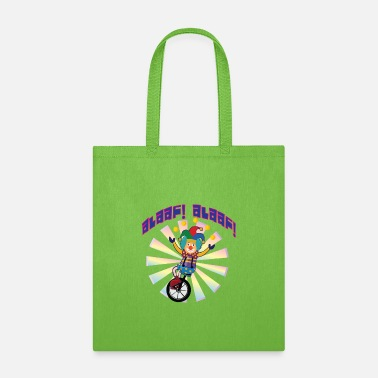 Alaaf Alaaf Alaaf clown on unicycle to carnival - Tote Bag