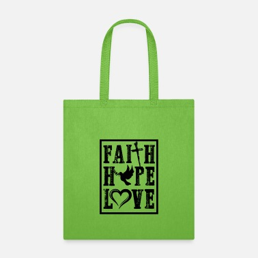 Christian Faith hope love Christian Christianity for Teen - Tote Bag