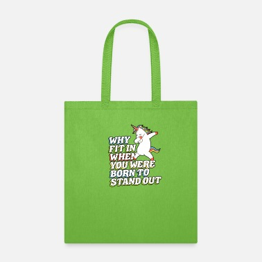 Autism Awareness Day Why Fit In When You Were Born to Stand Out - Tote Bag