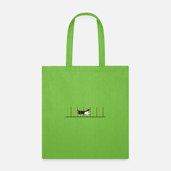 Australian Shepherd Bags & Backpacks - Agility 1 - Tote Bag lime green