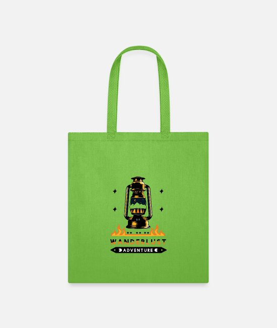 Travel Bug Bags & Backpacks - Wanderlust Adventure travel - gift idea - Tote Bag lime green