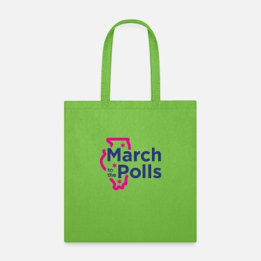Poll Power to The Polls - Women to the polls - Tote Bag