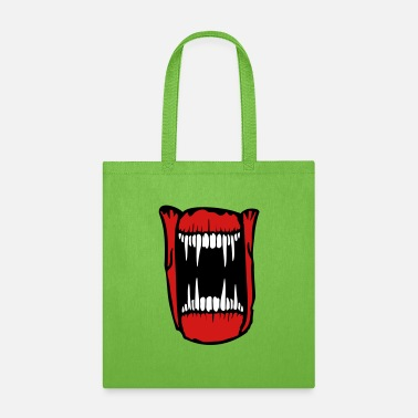 Evil teeth evil monster horror halloween mouth face coo - Tote Bag