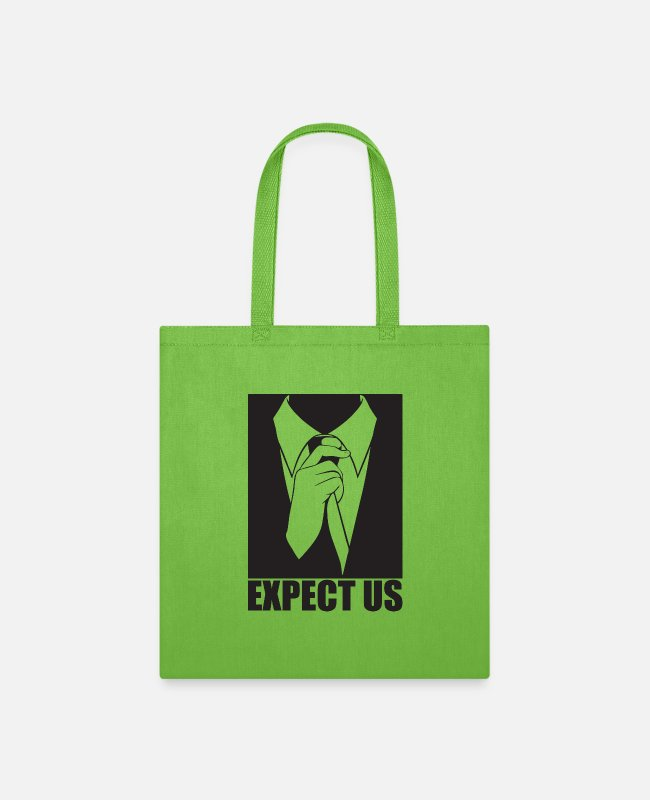 Anon Bags & Backpacks - Expect us - Tote Bag lime green