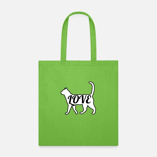 Catcher Bags & Backpacks - Cat Love - Tote Bag lime green