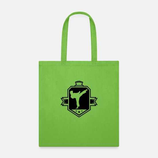 Sports Bags & Backpacks - karate_logo_uy1 - Tote Bag lime green