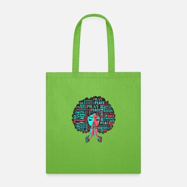 Afro Afro woman praying - Tote Bag