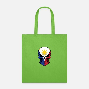 Filipino Flag Filipino Flag Skull - Tote Bag