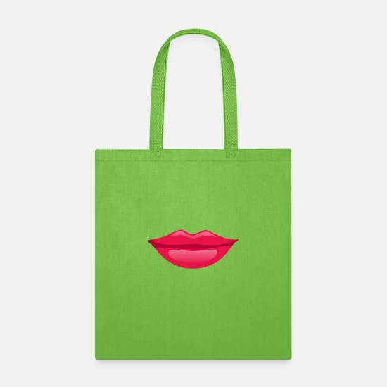 Love Bags & Backpacks - Sexy Lips - Tote Bag lime green