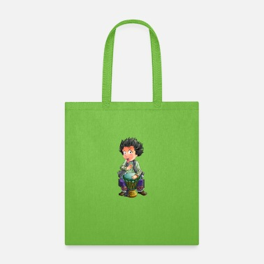 Cartoon Drummer Character Cartoon Funny - Tote Bag