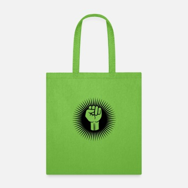 Revolution Quotes cool design fist revolution hand stretch up air ho - Tote Bag