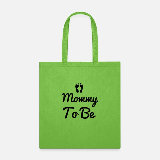 Engagement Bags & Backpacks - Mommy to be couple - Tote Bag lime green