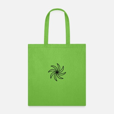 Shapes Abstract Flower - Black - Tote Bag