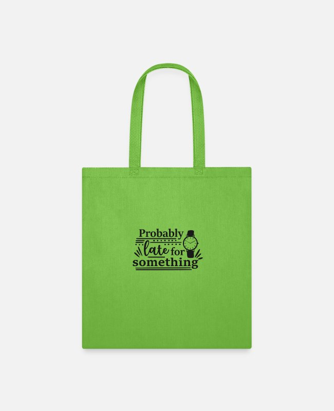 Late Risers Bags & Backpacks - probably late for something - Tote Bag lime green