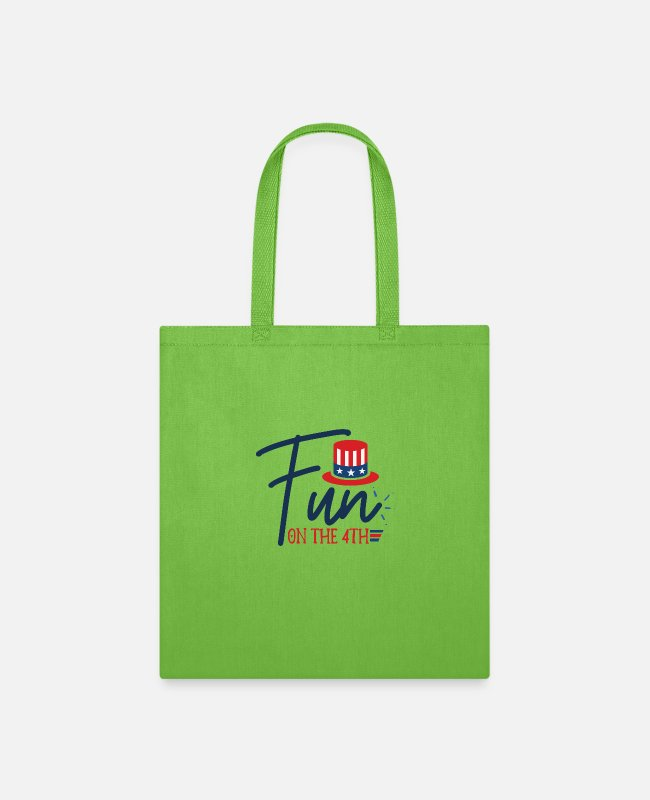Therapy Bags & Backpacks - fun on the 4th - Tote Bag lime green