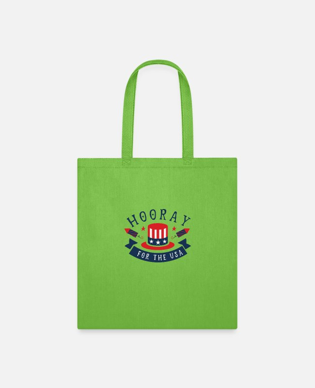 Therapy Bags & Backpacks - Hooray for the usa - Tote Bag lime green