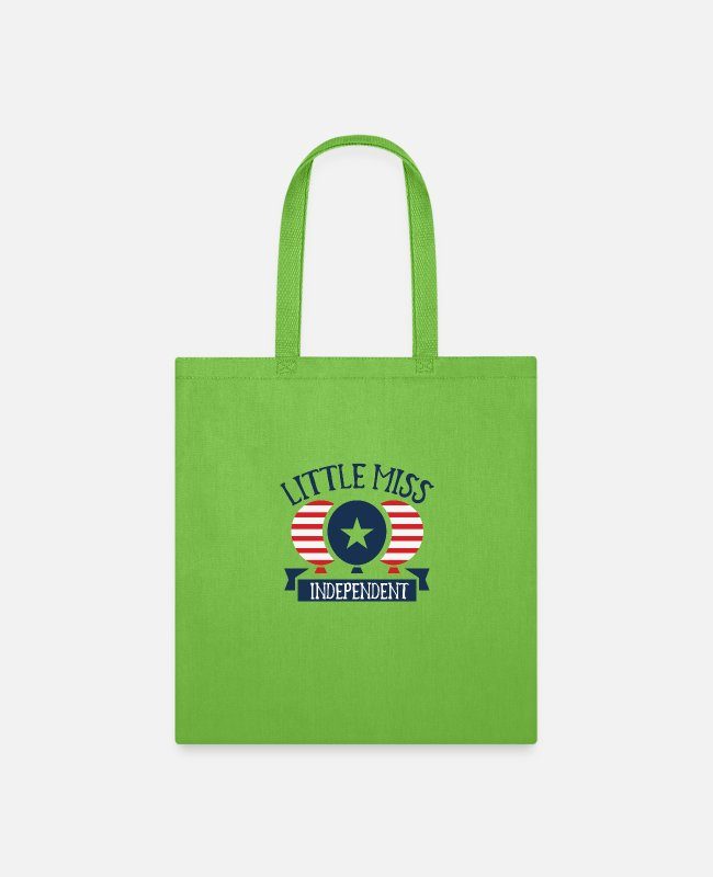 Little Red Riding Hood Bags & Backpacks - Little miss independent - Tote Bag lime green
