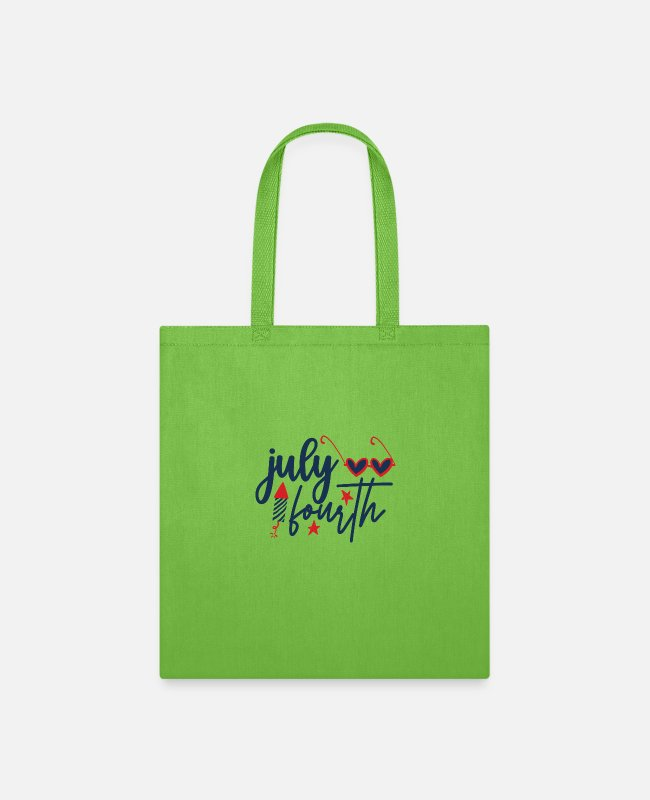 July Fourth Bags & Backpacks - july fourth - Tote Bag lime green
