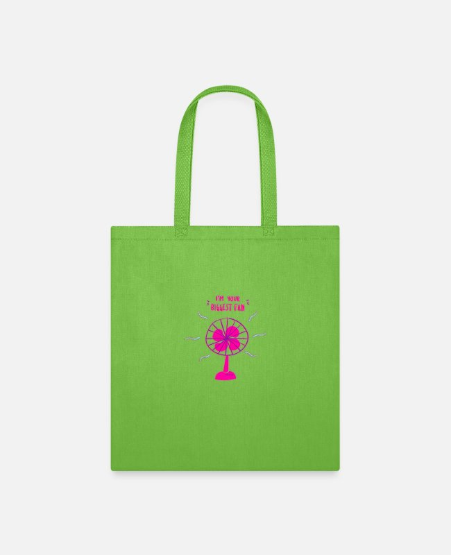Design Bags & Backpacks - I am your biggest fan - Tote Bag lime green