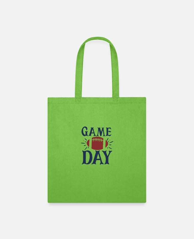 Day Of The Week Bags & Backpacks - Game day - Tote Bag lime green