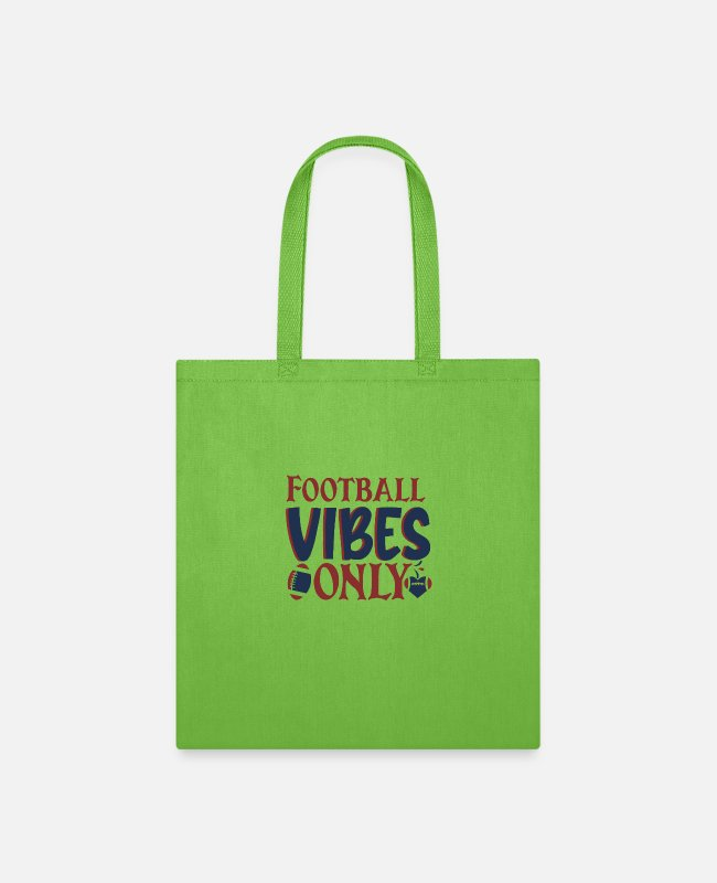 Football Cleats Bags & Backpacks - Football vibes only - Tote Bag lime green